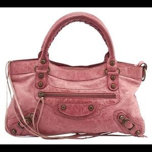 Balenciaga First Pink Leather Bag